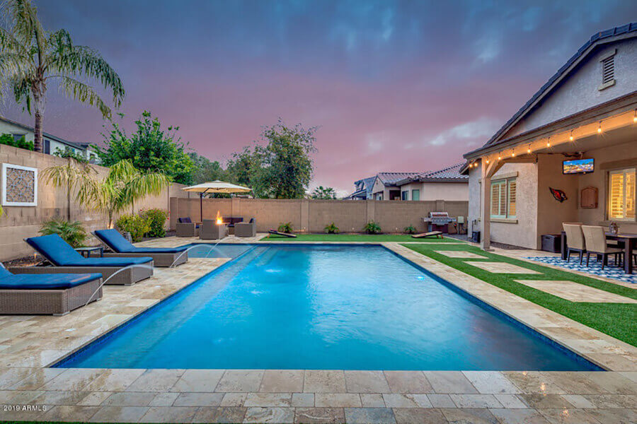 Ecosmart pools deluxe 1 pool builder arizona dolphin for Pool builders in az